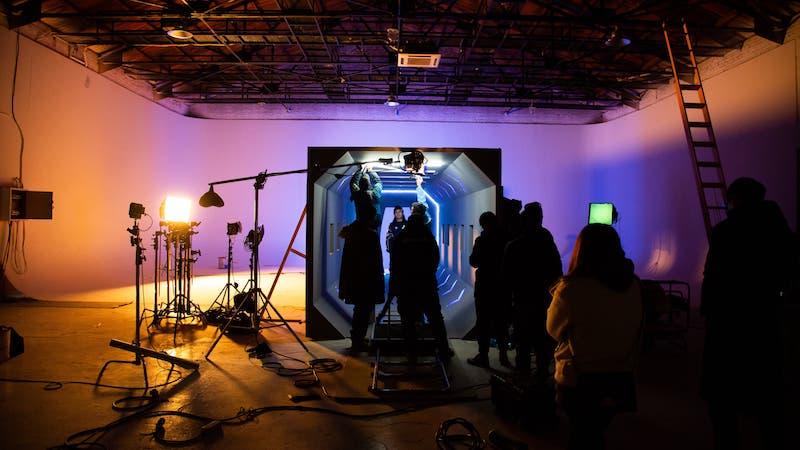 Film Shooting In Studio